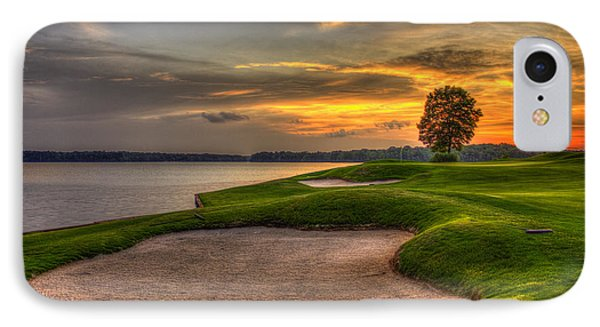 Number 4 Sunset Traps Reynolds Plantation IPhone Case by Reid Callaway