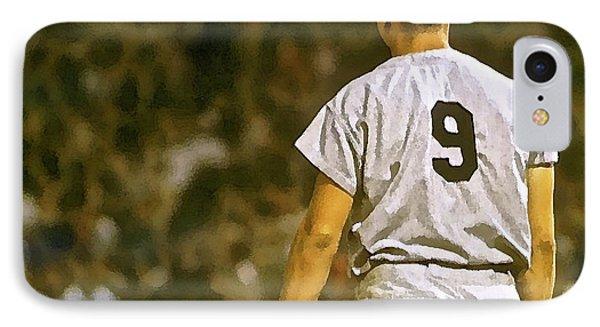 Number 9, Roger Maris, 1961, Watercolor, New York Yankees IPhone Case