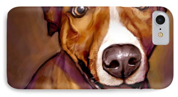 Dog iPhone 7 Case - Number One Fan by Sean ODaniels