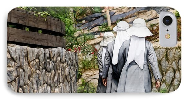 Nuns In A Row IPhone Case by Cameron Wood