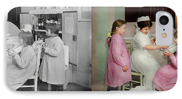 IPhone Case featuring the photograph Nurse - Playing Nurse 1918 - Side By Side by Mike Savad