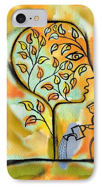 Garden iPhone 7 Case - Nurturing And Caring by Leon Zernitsky
