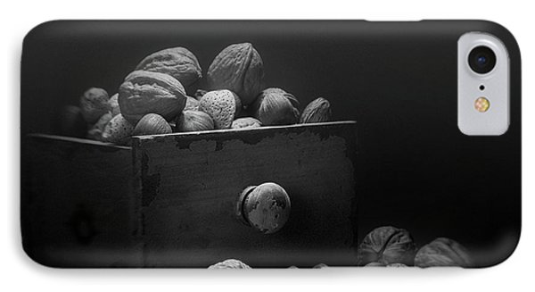 Nuts In Black And White IPhone Case by Tom Mc Nemar