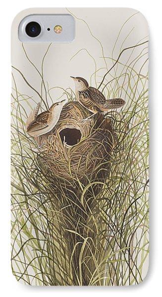 Nuttall's Lesser-marsh Wren  IPhone Case by John James Audubon