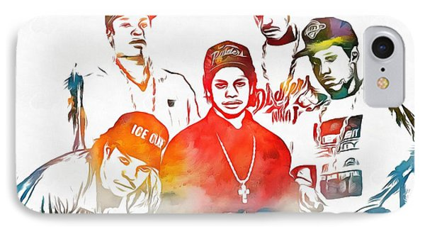 Nwa Color Tribute IPhone Case by Dan Sproul