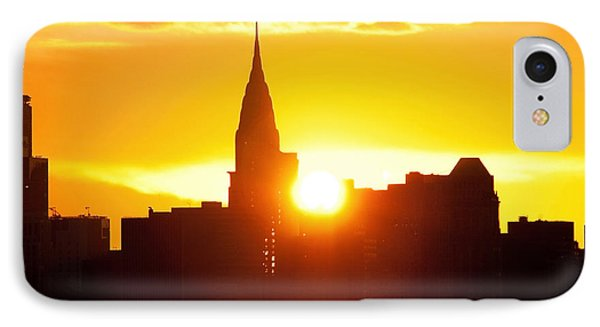 Ny Chrysler Building Sunrise Phone Case by Regina Geoghan