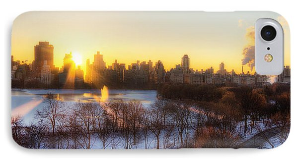 Ny Winter Panaroma Phone Case by Ariane Moshayedi
