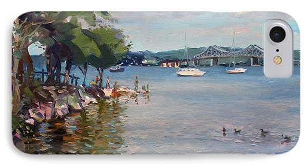 Nyack Park By Hudson River IPhone Case by Ylli Haruni