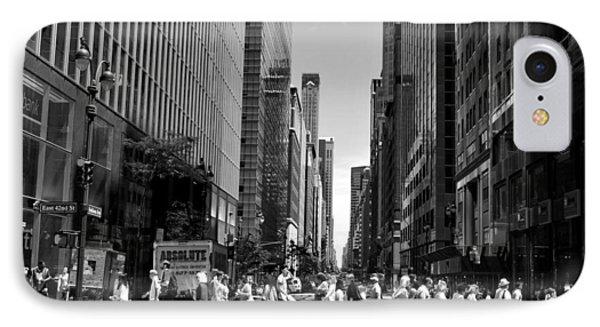 Nyc 42nd Street Crosswalk IPhone Case by Matt Harang