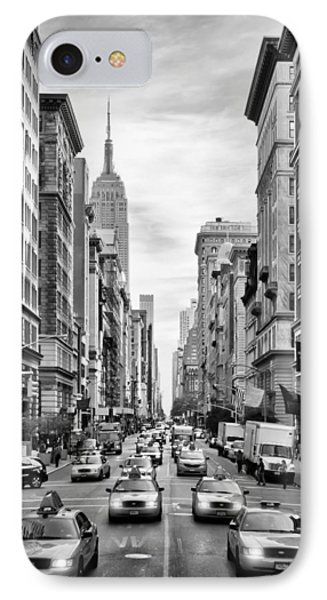 Nyc 5th Avenue Monochrome IPhone Case