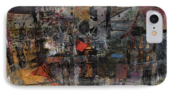 IPhone Case featuring the painting Nyc Abstract by Robert Anderson