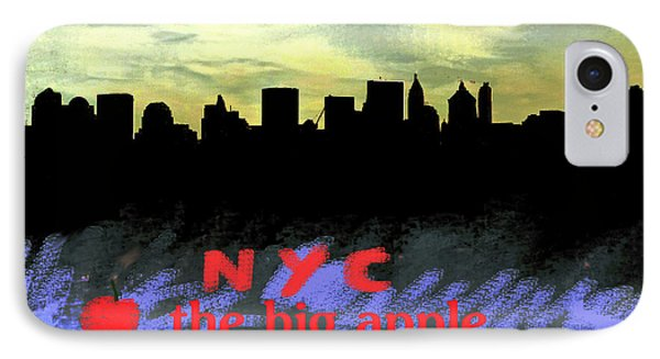 Nyc Big Apple Skyline  IPhone Case