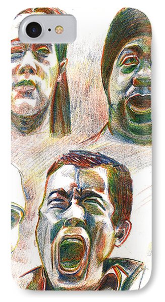 IPhone Case featuring the drawing Nyc Expressions by Al Goldfarb