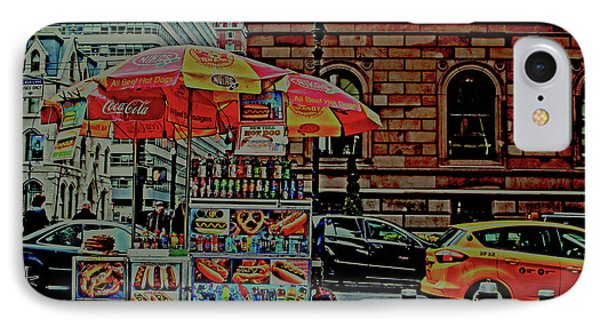 New York City Food Cart IPhone Case by Sandy Moulder