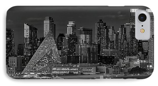 IPhone Case featuring the photograph Nyc Golden Empire Bw by Susan Candelario