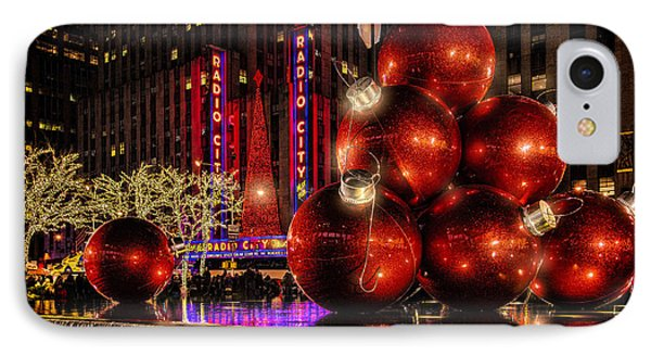 IPhone Case featuring the photograph Nyc Holiday Balls by Chris Lord
