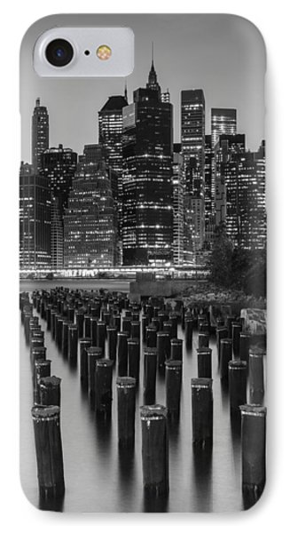 IPhone Case featuring the photograph Nyc Skyline Bw by Laura Fasulo