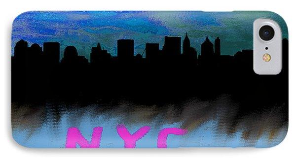 Nyc Skyline Blue  IPhone Case