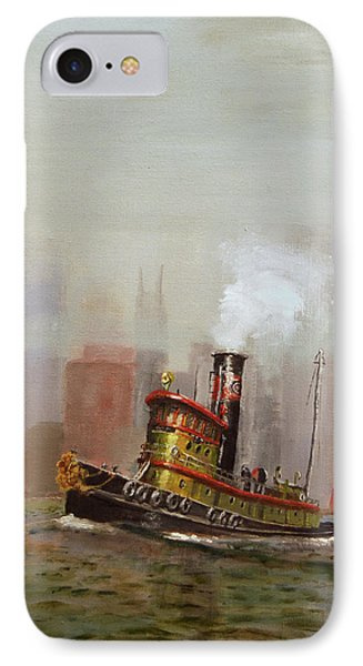 Nyc Tug Phone Case by Christopher Jenkins