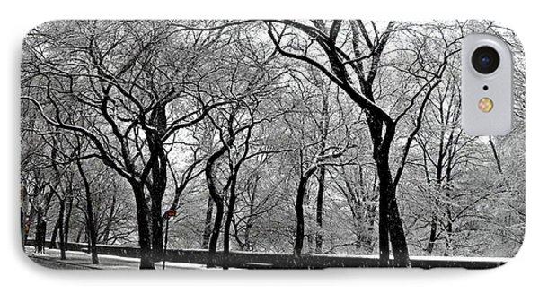 Nyc Winter Wonderland IPhone Case by Vannetta Ferguson