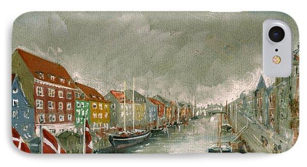 Nyhavn Copenhagen IPhone Case by Juan  Bosco