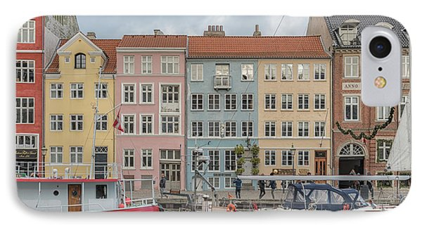 IPhone Case featuring the photograph Nyhavn Waterfront In Copenhagen by Antony McAulay