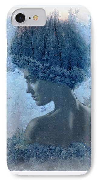 Nymph Of January IPhone Case by Lilia D