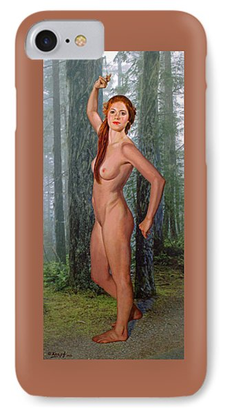 Nymph Of The Forest IPhone Case by Paul Krapf