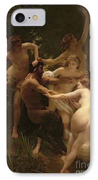 Nymphs And Satyr IPhone Case by William Adolphe Bouguereau