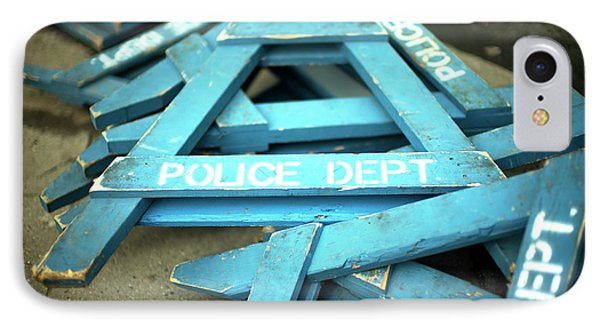 IPhone Case featuring the photograph Nypd Blue by John Rizzuto