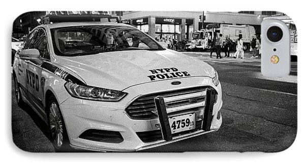 nypd police patrol car at night New York City USA IPhone Case