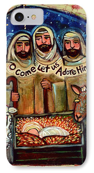 O Come Let Us Adore Him Shepherds IPhone Case