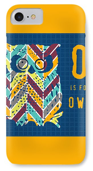 O Is For Owl IPhone Case by Brandi Fitzgerald