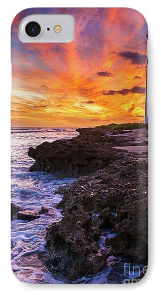 Oahu Lighthouse Phone Case by Inge Johnsson
