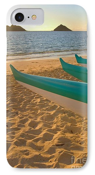 Oahu, Outrigger Canoes Phone Case by Tomas del Amo - Printscapes