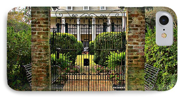Oak Alley Gate IPhone Case by Perry Webster