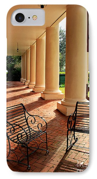 Oak Alley Porch IPhone Case by Perry Webster