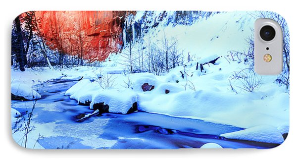 Oak Creek In Winter IPhone Case by Alexey Stiop