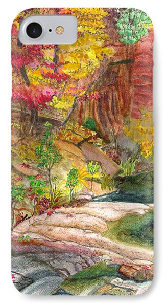 IPhone Case featuring the painting Oak Creek West Fork by Eric Samuelson
