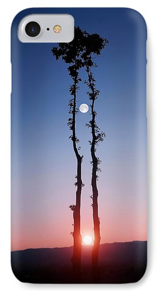 Oak Kissing IPhone Case by Bess Hamiti