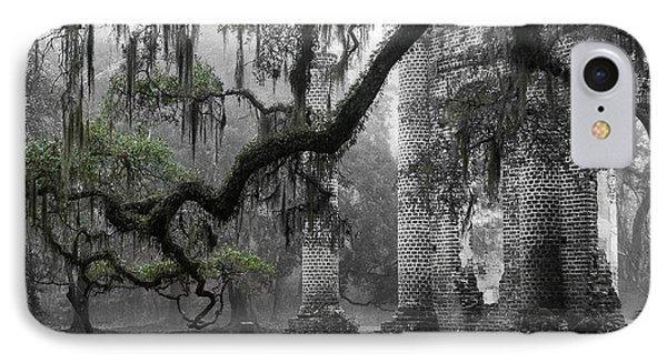 Oak Limb At Old Sheldon Church Phone Case by Scott Hansen