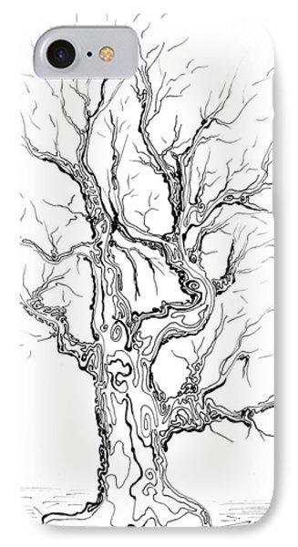 Oak Tree Abstract Study Phone Case by Regina Valluzzi