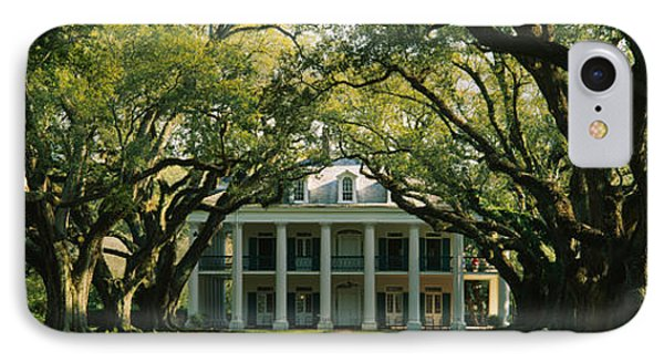 Oak Trees In Front Of A Mansion, Oak IPhone Case by Panoramic Images