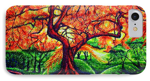 IPhone Case featuring the painting OAK by Viktor Lazarev