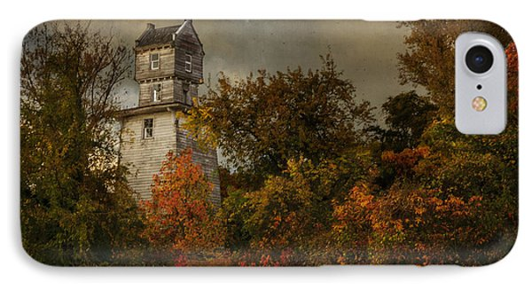Oakhurst Water Tower IPhone Case by Debra Fedchin