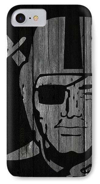Oakland Raiders Wood Fence IPhone Case by Joe Hamilton