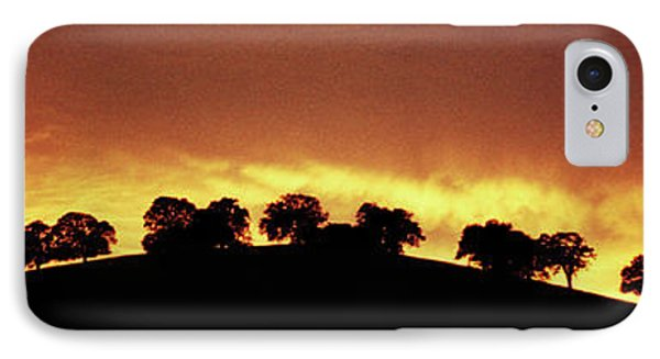 IPhone Case featuring the photograph Oaks On Hill At Sunset by Jim and Emily Bush