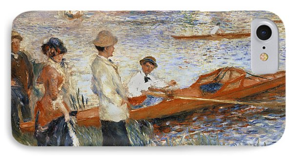 Boat iPhone 7 Case - Oarsmen At Chatou by Pierre Auguste Renoir