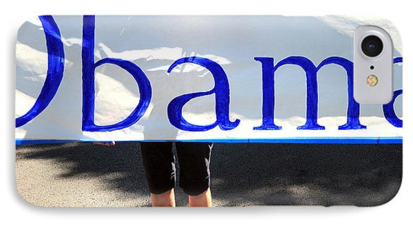 Obama Banner. IPhone Case by Oscar Williams