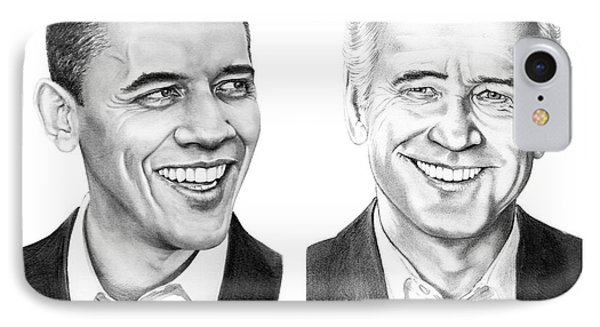 Obama Biden IPhone Case by Murphy Elliott